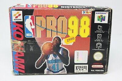 PRO 98 PRO98 NBA KONAMI NINTENDO 64 PAL n64 inv-6617