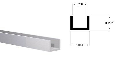 Aluminum Channel1 W X 34 H X 18 Wall Fit 34 Clear Anodized 6 Foot