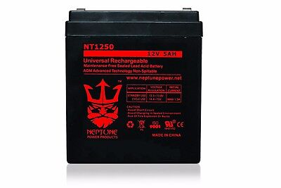 - NEW! 12V 4AH Alarm Security Fire System Battery 12 Volt 4 Amp Hour Sealed Lead