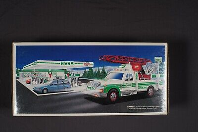 Vintage 1994 Hess Rescue Truck  and 1993 Hess Patrol Car New In Box (2 items)