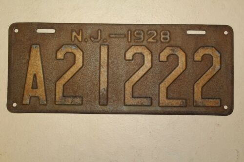 1928 28 NEW JERSEY NJ LICENSE PLATE