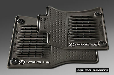 Lexus LS460L (2013-2017) (AWD / ALL WHEEL DRIVE) 4pc ALL WEATHER FLOOR MATS OEM
