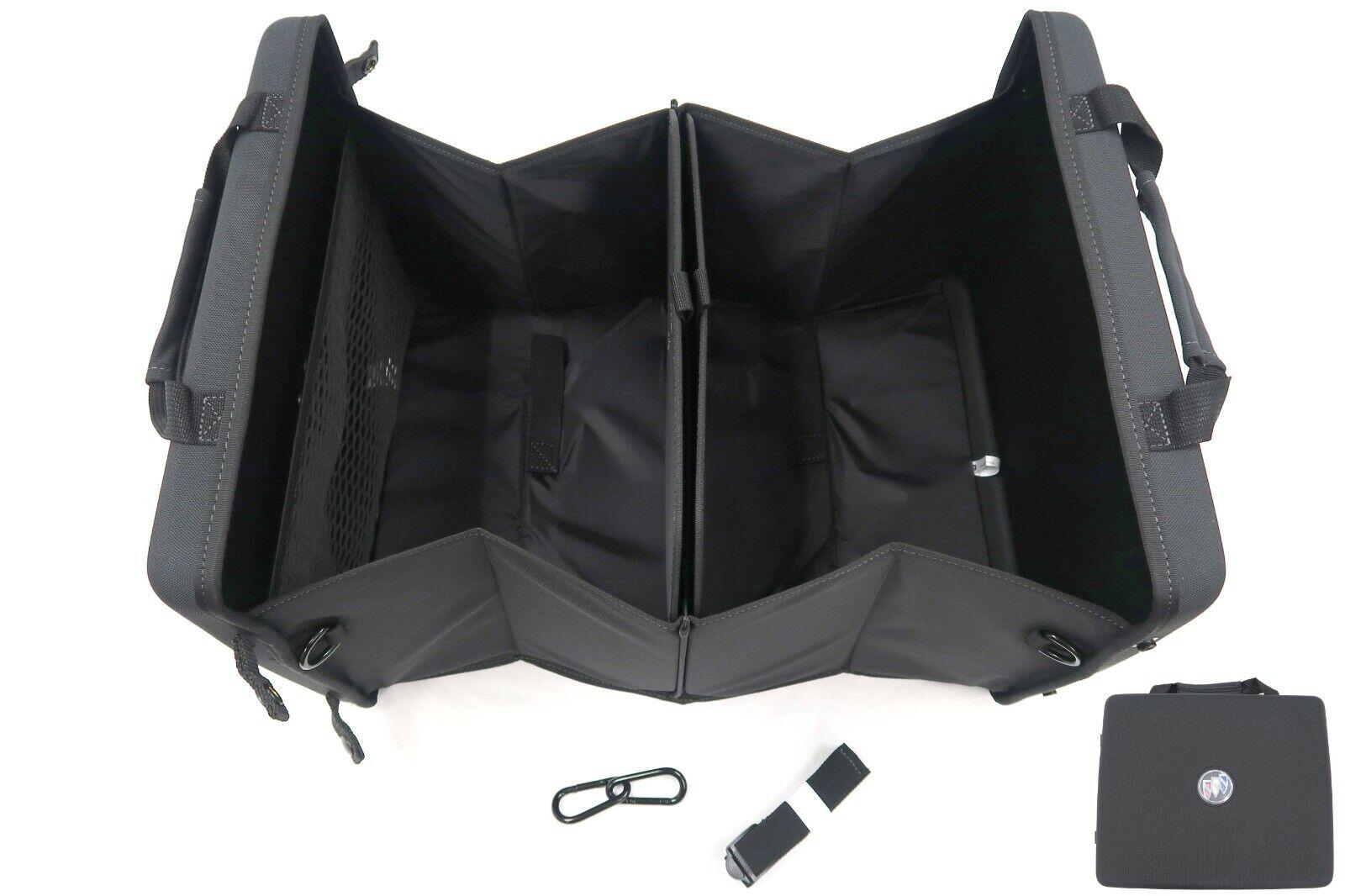 Buick Collapsible Cargo Organizer w/Logo Hard Shell Black Fabric OEM New