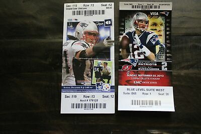 2X 2013 NEW ENGLAND PATRIOTS TICKET STUBS-TOM BRADY