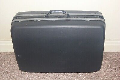 Vintage Samsonite Hard Shell Suitcase Retro Combination Lock Grey 4 Wheeled