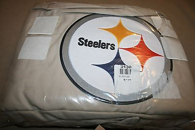 NEW Pottery Barn Teen NFL Pittsburgh Steelers Patch Duvet Cover Twin Stone NWT