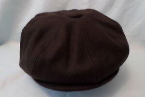 GENTS-PEAKED-PEAK-BROWN-1920-S-1930-S-VICTORIAN-EDWARDIAN-PEAKY-BLINDERS-CAP