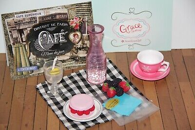 American Girl GRACE Bakery Baking Bistro Set Accessories Berries - New
