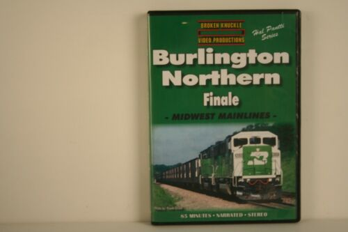 DVD Burlington Northern Finale Midwest Mainlines - Broken Knuckle Video