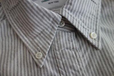 NWOT Thom Browne Gray University Stripe Oxford Cloth Shirt TB0 TB1 MSRP $370