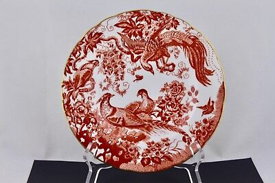 ROYAL CROWN DERBY RED AVES SALAD PLATE BONE CHINA #4 - ENGLAND
