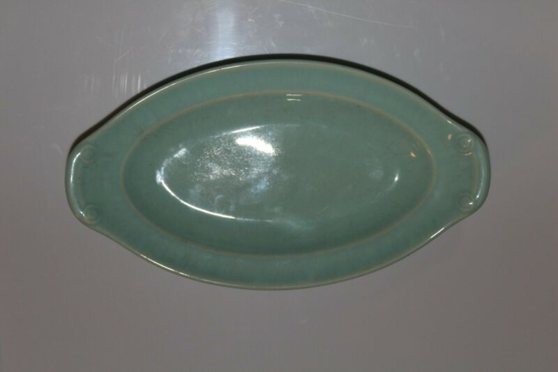 Taylor Smith & Taylor LuRay Pastels Windsor Blue Pickle Oval Celery Server