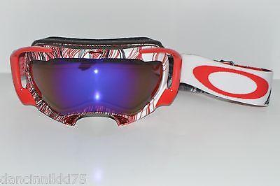 589791c1fb OAKLEY SPLICE Snow Goggles CUSTOM...red black white w Blue iridium