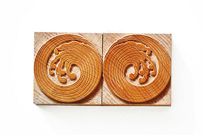 Letterpress Japanese Ornaments No. 07 Wood Type 10 Line 422 Mm - 2 Pieces