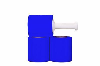 5 Narrow Width Stretch Wrap Film Blue 1000 80 Ga 12 Rolls 1 Plastic Handle