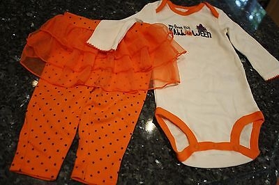 NWOT 6 mos Carter's just one you girls My First Halloween outfit onepiece pants - Carter's My First Halloween Outfit