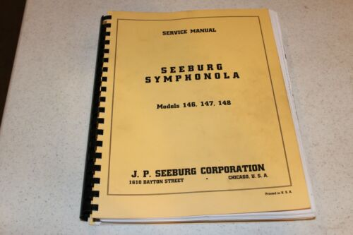 Seeburg Symphanola Models 146, 147 & 148 Jukebox Service Manual - used