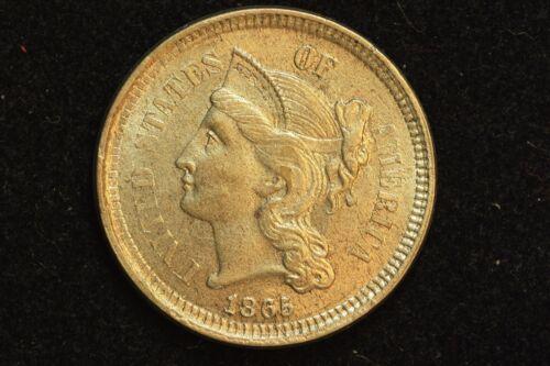 1865 3c nickel, Slider BU
