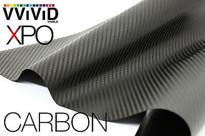 XPO Dry Black Carbon Fiber 50ft x5ft vinyl car wrap decal vvivid film plane boat