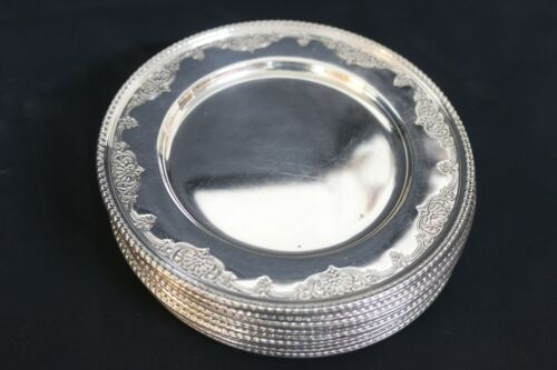 Wallace 12 Sterling Silver Dessert Plates