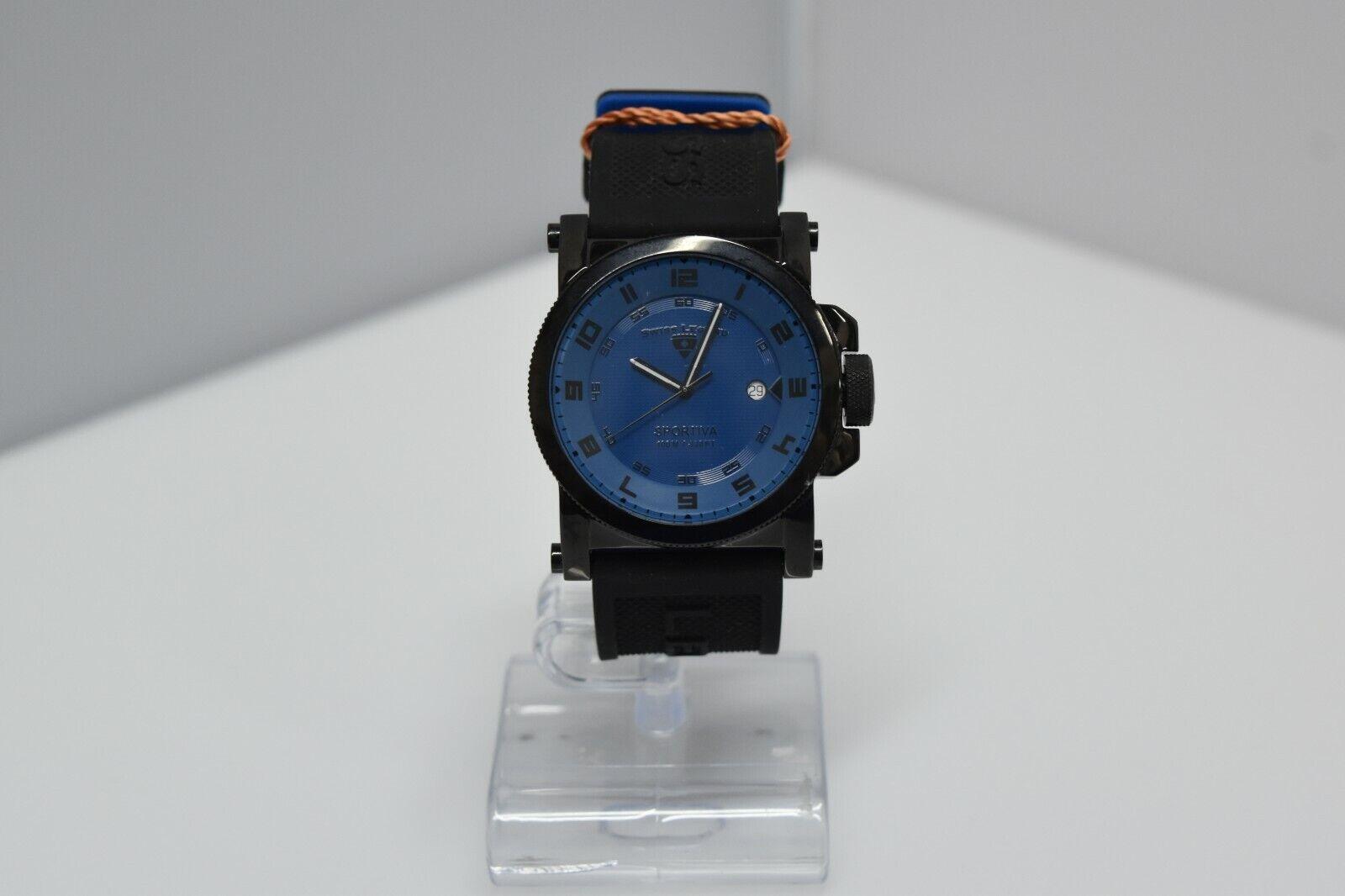 Swiss Legend Sportiva 45mm SL-40030 Watch Black/Blue