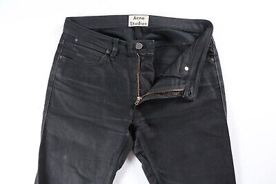 Acne Studios Max Cash Black Stretch Denim Jeans 30 x 31 $230