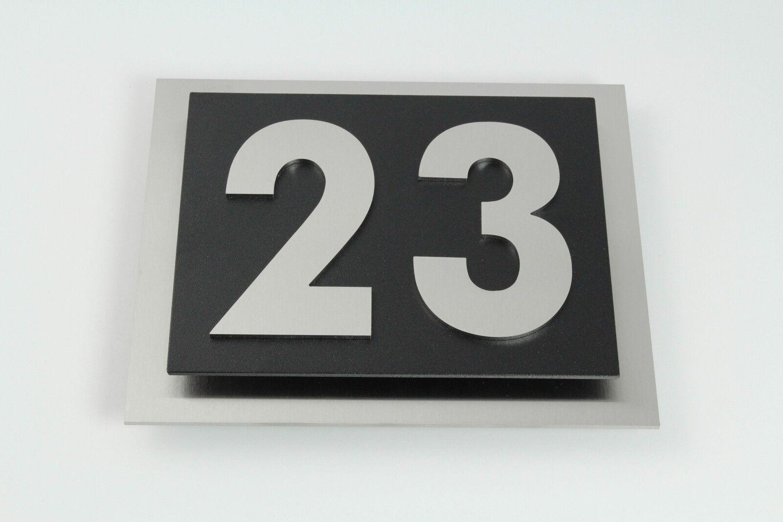 hausnummer edelstahl design verona 2 stellig v2a. Black Bedroom Furniture Sets. Home Design Ideas