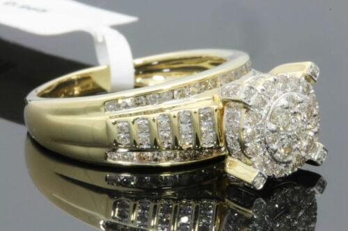 10K YELLOW GOLD 1 CARAT WOMEN REAL DIAMOND ENGAGEMENT RING WEDDING BRIDAL RING