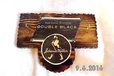 Handmade Wooden Johnny Walker Double Black Bar Sign/Keyholder Original 2016