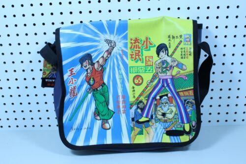 VINTAGE MANGA SCHOOL MESSENGER BAG WU & WU JAPANESE