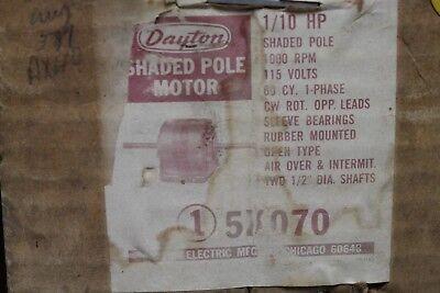 Dayton Shaded Pole Motor - 110hp - 115v - 1000rpm - 5k070