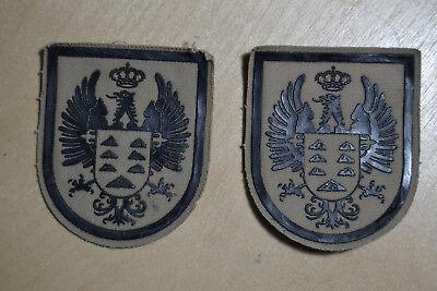 Lote de 2 Parches Militares Aguila Negra - Epoca Franco