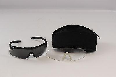 Used Black Revision Military Goggles Eyewear w Clear & Dark Lenses Case Set Kit