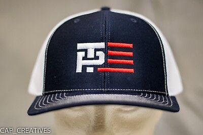 TRUMP 2020 PENCE Hat -MAKE AMERICA GREAT AGAIN- Richardson TP FLAG Navy White