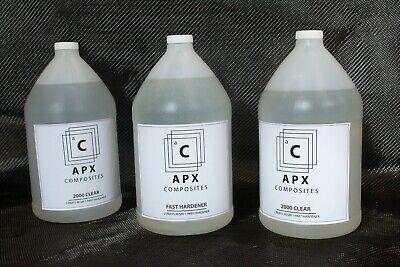 Apx Clear 2000 3 Gallon 384 Oz Fast Hardener Carbon Fiber Epoxy Resin
