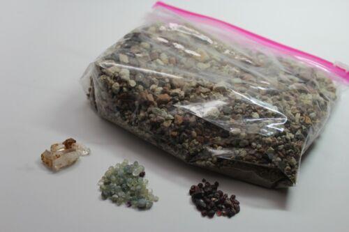 Montana Sapphire and Garnet Gravel + Quartz Crystals (16) 1 of 8