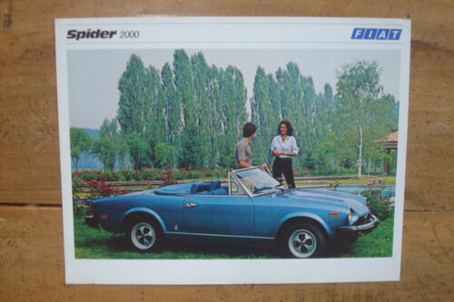 1979 Fiat 2000 Spider Photo Specification Sheet Brochure Canadian