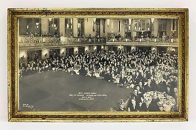 Vintage Nehi Soda Dinner Dance Framed Photo Cincinnati Oh 1940 Deco Ballroom