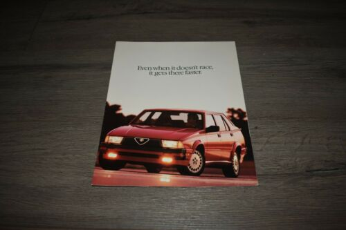 1987 Alfa Romeo Milano sales brochure