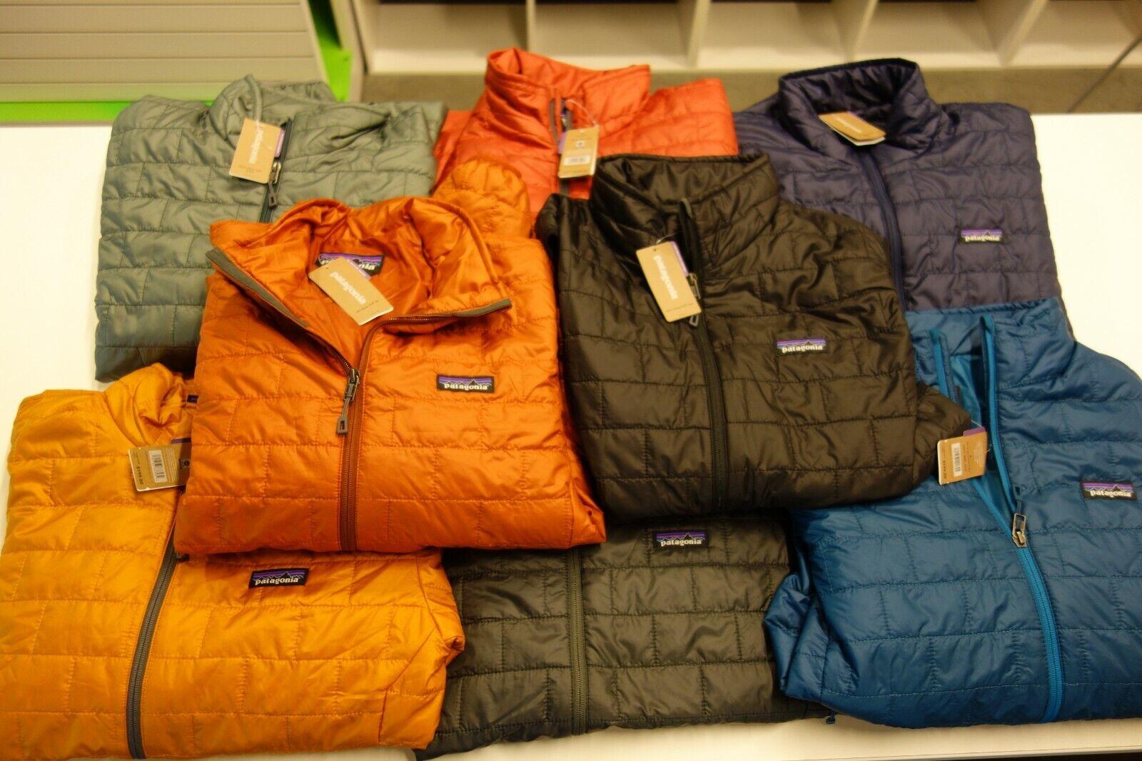 Patagonia Men/'s Nano Puff Jacket Big Sur Blue w//Balkan Blue NWT Men size Medium