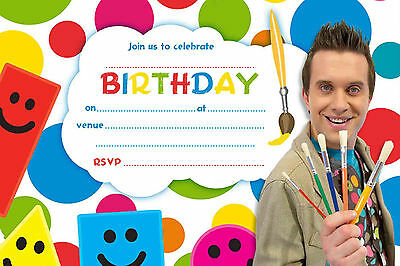 MISTER MAKER A5 Size Glossy Childrens Party Invitations - - Party Invitation Maker