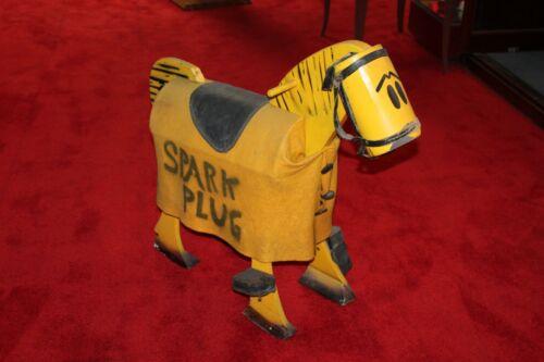 1930s Barneys Google SPARK PLUG HORSE wood statue RARE promotional piece