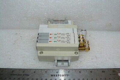 7 SMC SOLENOID VALVES ON A MANIFOLD ELECTRONIC SQ1131N-5-C4-Q