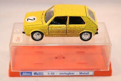 Schuco 306 624 Volkswagen Golf Rallye yellow perfect mint in box superb set
