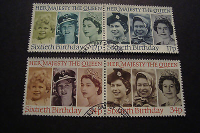 GB 1986 Commemorative Stamps~Queen 60th~Very Fine Used Set~(ex fdc)UK Seller