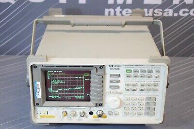 Hp 8593e 010041050119bd1 Rf Spectrum Analyzer 9khz - 22ghz Calibrated
