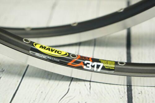NOS Mavic XM317 Rim Set (2) 559x17 Clincher Eyeletted 36H Black MTB Touring Blk