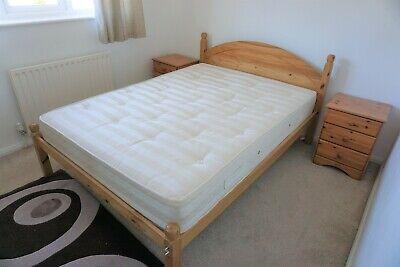 JULIAN BOWEN PINE DOUBLE BED FRAME WITH MATTRESS