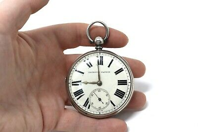 Antique Victorian C1873 Sterling Silver Fusee Key Wind Pocket Watch A/F 152g