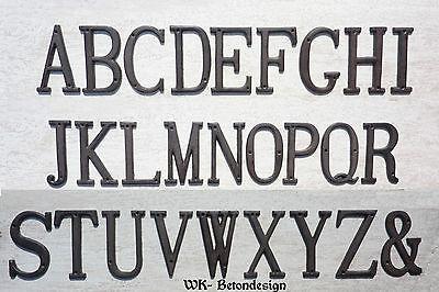 ABET 3D NAME HAUSNUMMER ABC EISEN SCHRIFTZEICHEN LETTER 0501 (Alphabet Nummer)